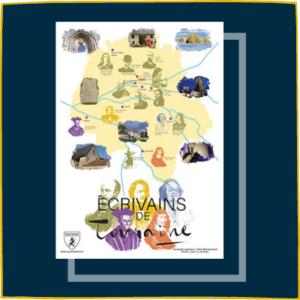Carte des écrivains de Touraine